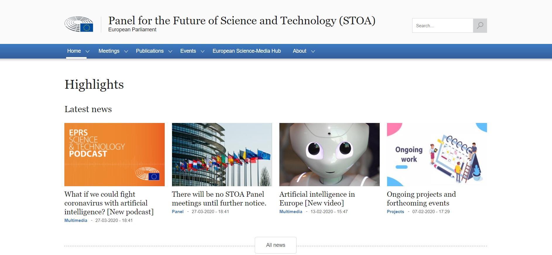 Webinar organizado por STOA con personas expertas en COVID-19