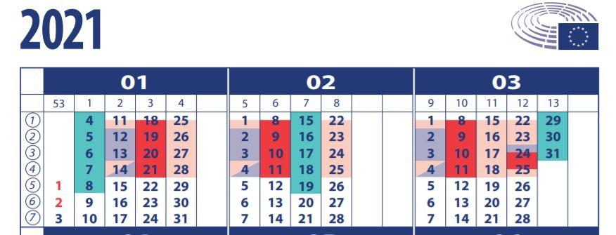 External parliamentary activities. Week.
